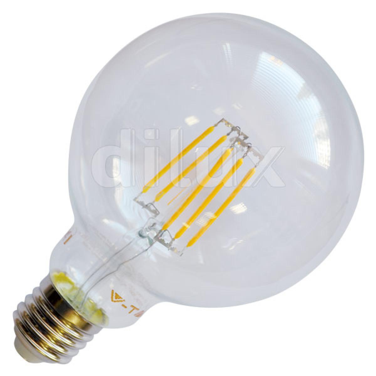 lampadina globo led : Home / V-Tac VT-1983 Lampada LED Globo Filamento E27 6W - SKU 4304