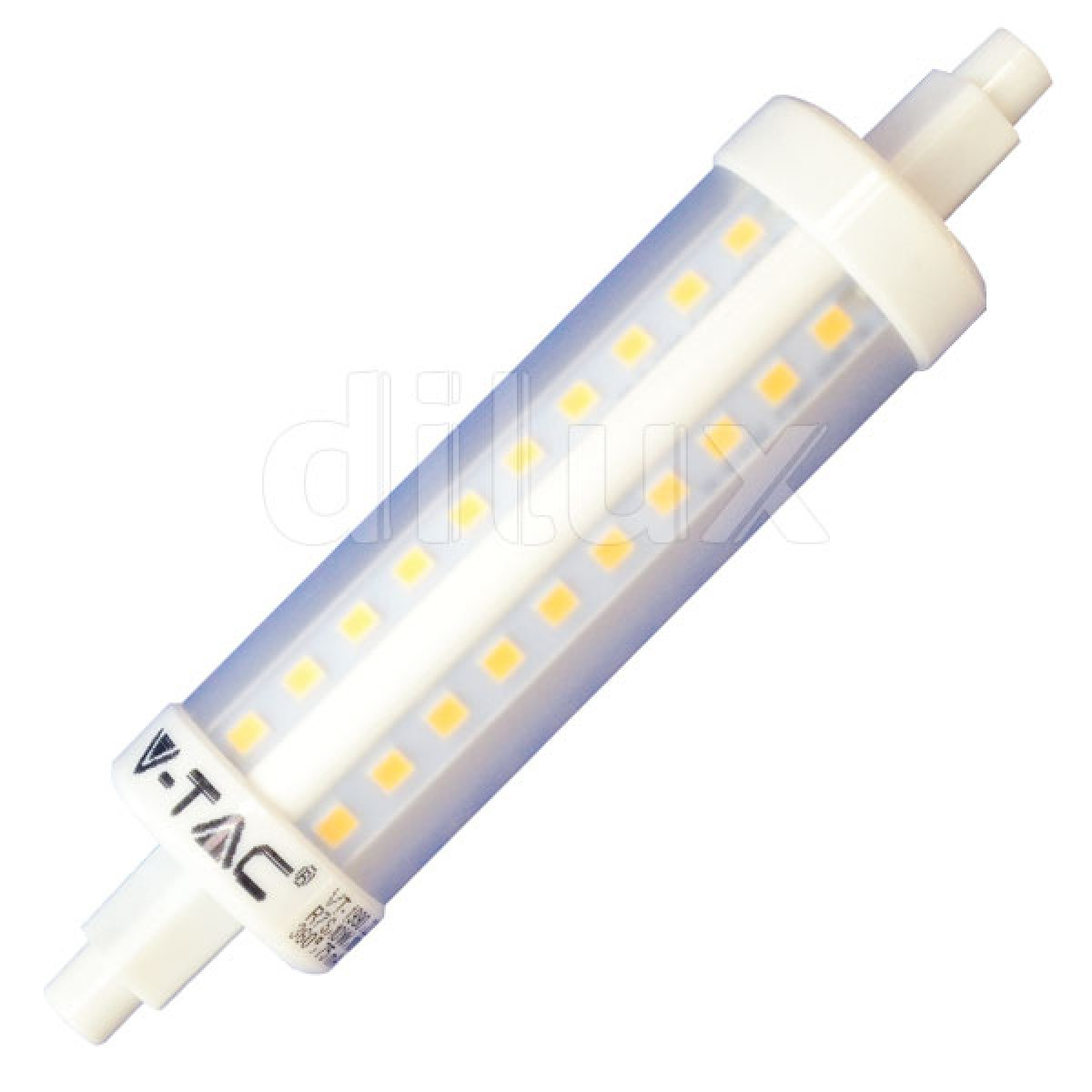 V tac vt 1990 lampadina led lineare r7s 118mm 10w sku for Alogena lineare led