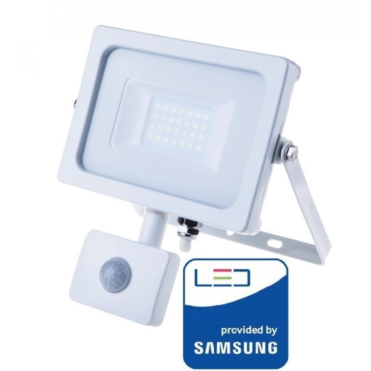 V Tac Pro Vt 20 S Faro Led Chip Samsung 20w Bianco Con