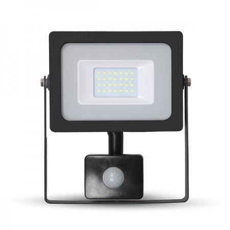 V-Tac VT-4922 Faro LED Ultra Slim 20W Nero con Sensore di Movimento e Crepuscolare - SKU 5801 | 5802 | 5803