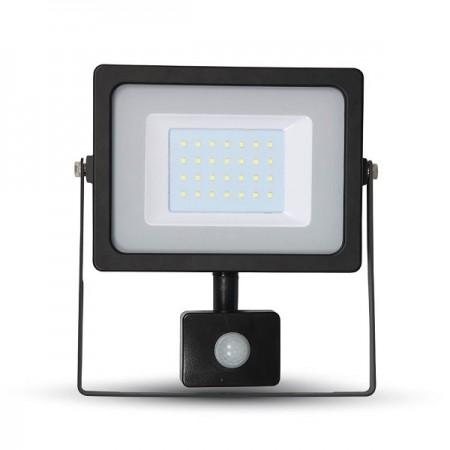 V-Tac VT-4830 PIR Faro LED Ultra Slim 30W Nero con Sensore di Movimento e Crepuscolare - SKU 5699 | 5700 | 5716