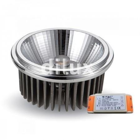 V-Tac VT-2110 Lampadina LED Faretto da Incasso AR111 20W 20° - SKU 1243 | 1244 | 1245