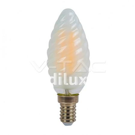 V-Tac VT-1928 Lampadina LED Filamento Frost Twist Candela E14 4W - SKU 71071   7108   7109