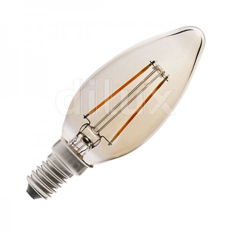 V-Tac VT-1955 Lampadina LED Filamento Ambrata Candela E14 4W - SKU 7113