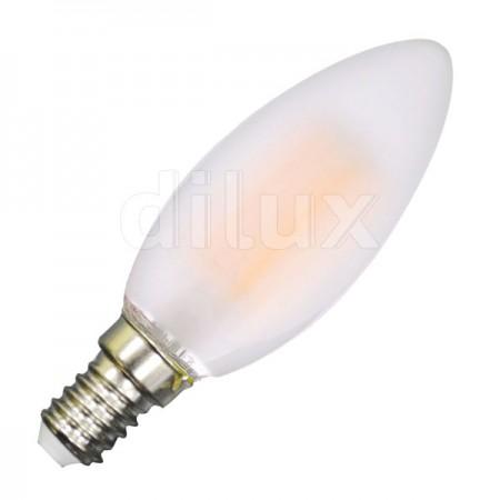 V-Tac VT-1936 Lampadina LED Filamento Frost Candela  E14 4W - SKU 4474 | 4475 | 4476
