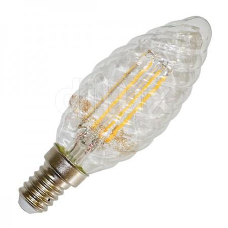 V-Tac VT-1985 Lampadina LED Filamento Twist Candela E14 4W - SKU 4307