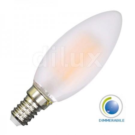 V-Tac VT-2054D Lampadina LED Filamento Frost Candela  E14 4W Dimmerabile - SKU 7176