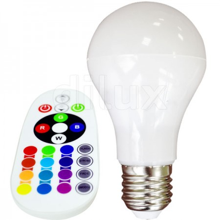 V-Tac VT-2022 Lampadina LED E27 Classic Bulbo 6W Luce Multi-Color RGB e Bianca - SKU 7121 | 7150 | 7151