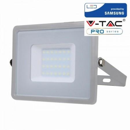 V-Tac VT-30 Faretto LED da Esterno 30W Grigio CHIP SAMSUNG - SKU 454 | 455 | 456