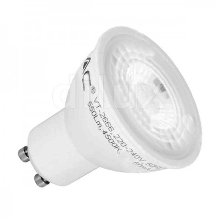 V-Tac VT-2778 Lampadina LED Faretto Spot GU10 7W 110° - SKU 1672 | 1673 | 1674