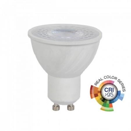 V-Tac VT-2206 Lampadina LED GU10 Faretto Spotlight 6W CRI>95 - SKU 7497 | 7498 | 7499
