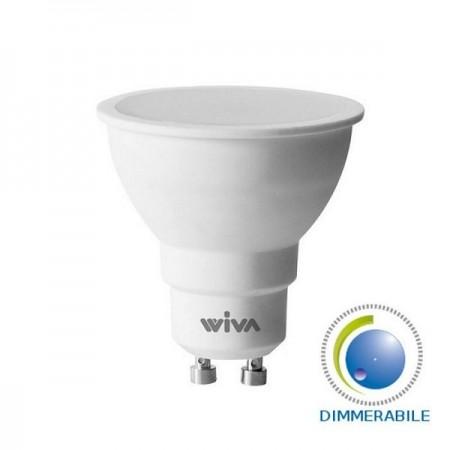 Wiva Lampadina LED GU10 Faretto Spotlight 9W 100° Dimmerabile - Mod. 12100425   12100426   12100427