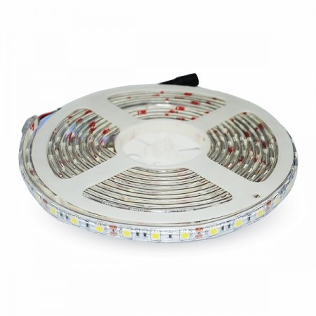 V-Tac Striscia LED 5050 Impermeabile IP65 Multi-Color RGB 9,6W/mt. 60 LED/mt. 5 METRI - SKU 2155
