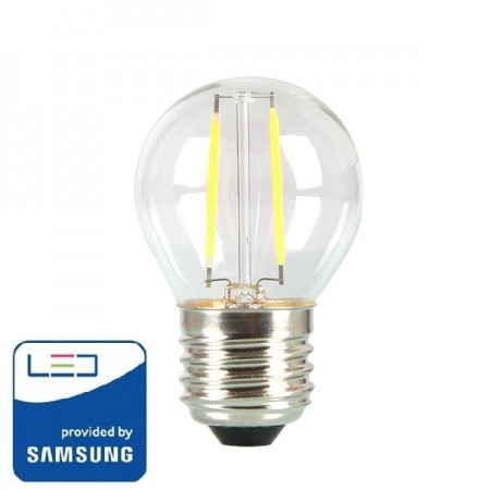 V-Tac PRO VT-244 Lampadina LED E27 Mini-Bulbo Filamento 4W CHIP SAMSUNG - SKU 280