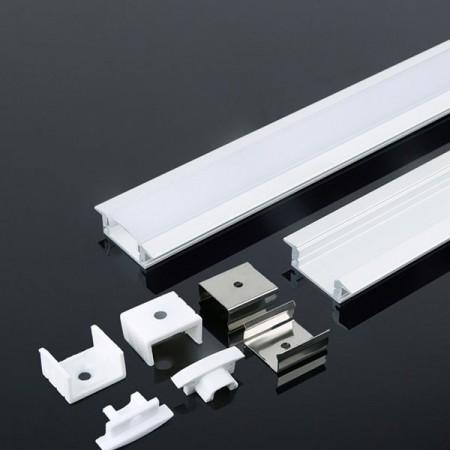 V-Tac VT-8106-W Profilo da Incasso in Alluminio Col. Bianco per Strisce LED 2MT. - SKU 3368