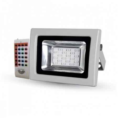 V-Tac VT-4711 Faro LED Multi-Color RGB 10W con Telecomando Radiofrequenza - SKU 5894