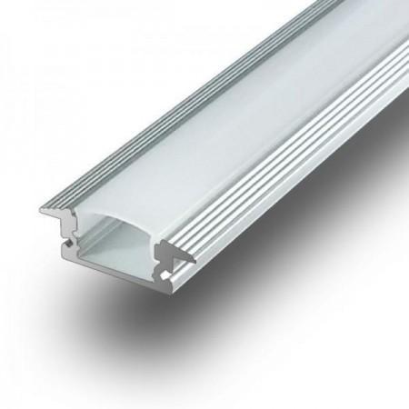 V-Tac Profilo da Incasso in Alluminio per Strisce LED 1MT. - SKU 9990