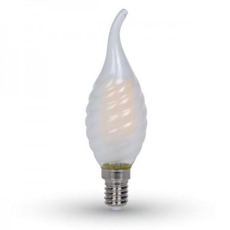 V-Tac VT-1923 Lampadina LED Filamento Twist Frost Fiamma E14 4W - SKU 7110 | 7111 | 7112