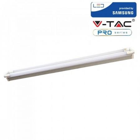 V-Tac PRO VT-12027 Plafoniera con 2 Tubi Led T8 G13 18W 120cm. CHIP SAMSUNG - SKU 6444 | 6445