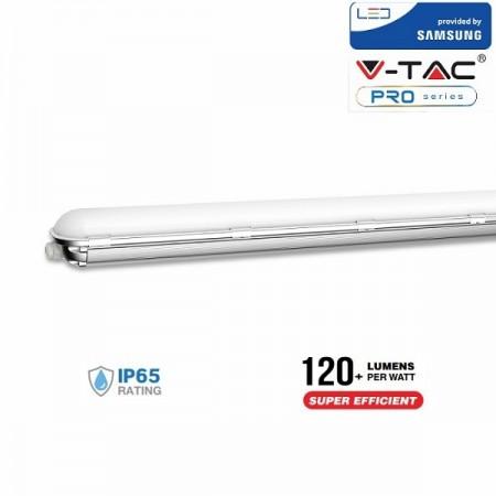 V-Tac PRO VT-160 Tubo LED Plafoniera Impermeabile 60W 120cm High Lumen  CHIP SAMSUNG - SKU 678 | 679