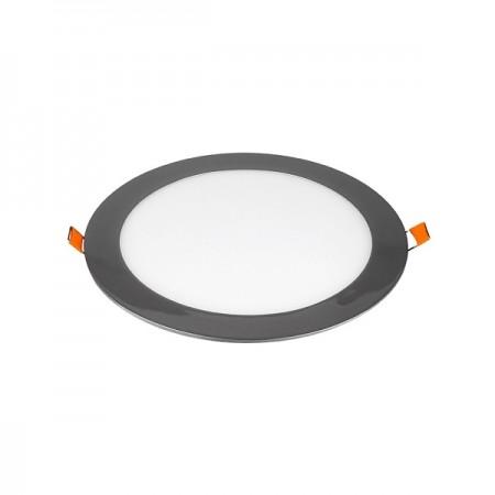 V-Tac VT-1807CH Pannello LED Tondo 18W Cromato da Incasso - SKU 6346 | 634 | 6348