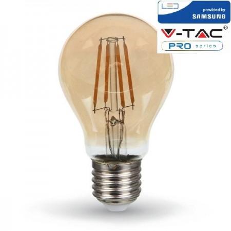 V-Tac PRO VT-214 Lampadina LED E27 Filamento Ambrata Classic Bulbo 4W CHIP SAMSUNG - SKU 282