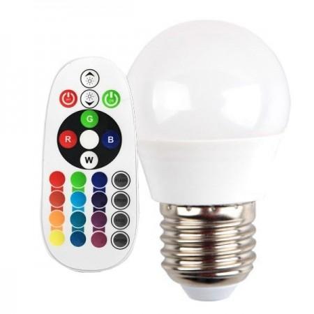 V-Tac VT-2224 Lampadina LED E27 Mini-Bulbo 3.5W RGB+W con Telecomando - SKU 2772 | 2773 | 2774