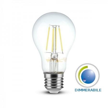 V-Tac VT-2288D Lampadina LED E27 Filamento Classic Bulbo 8W Dimmerabile - SKU 2815