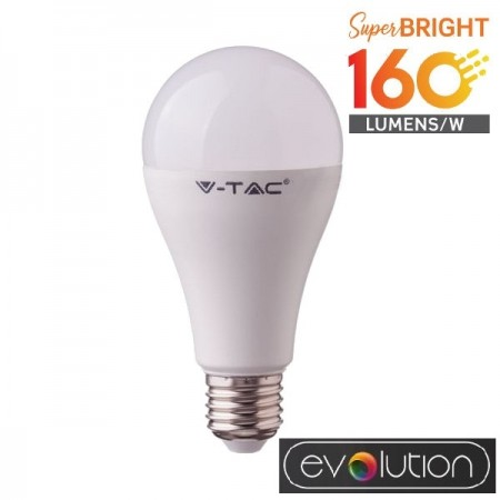 V-Tac Evolution VT-2315 Lampadina LED E27 Classic Bulbo 15W High Lumen - SKU 2812 | 2813 | 2814
