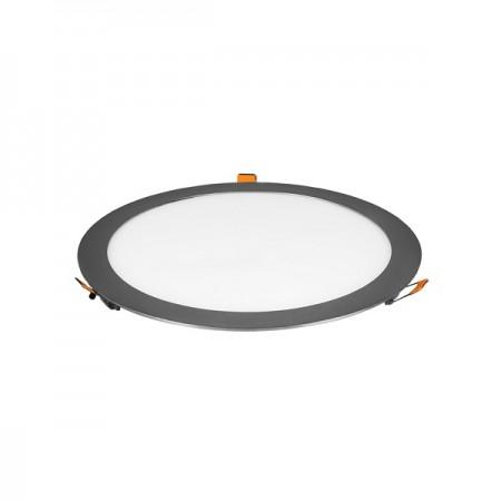 V-Tac VT-2407CH Pannello LED Tondo 24W Cromato da Incasso - SKU 6352 | 6353 | 6354
