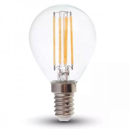 V-Tac VT-2466 Lampadina LED E14 Filamento Mini-Bulbo 6W - SKU 2845 | 2846 | 2847