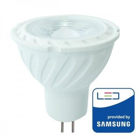 V-Tac PRO VT-257 Lampadina LED GU5.3 Faretto Spotlight 6.5W 110° CHIP SAMSUNG - SKU 204 | 205 | 206
