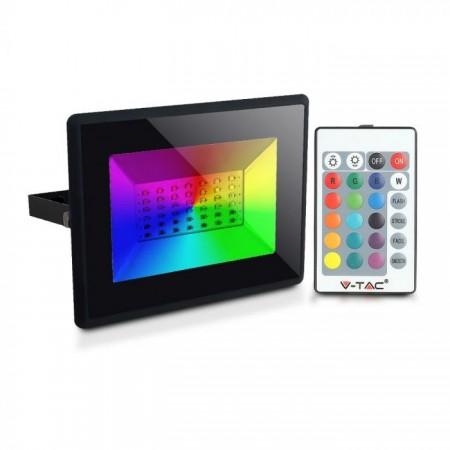 V-Tac VT-4932 Faro LED da Esterno RGB 30W Dimmerabile con Telecomando - SKU 5995