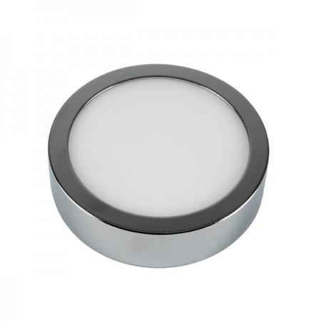 V-Tac VT-605CH Pannello LED Tondo 6W Cromato a Montaggio Superficiale - SKU 6358 | 6359 | 6360