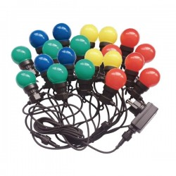V-Tac VT-71020 Catena di 20 Lampadine Led Mini Globo Multicolore - SKU 7438