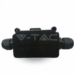 V-Tac VT-7224 Scatola di Derivazione con Terminali Impermeabile Nera - SKU 3578