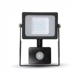 V-Tac VT-4911 Faro LED Ultra Slim 10W Nero con Sensore di Movimento e Crepuscolare - SKU 5783 | 5784 | 5785