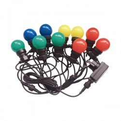 V-Tac VT-70510 Catena di 10 Lampadine Led Mini Globo Multicolore - SKU 7435
