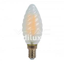 V-Tac VT-1928 Lampadina LED Filamento Frost Twist Candela E14 4W - SKU 71071 | 7108 | 7109