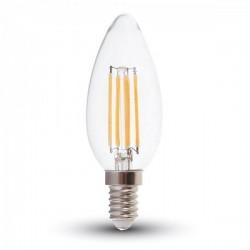 V-Tac VT-2127 Lampadina LED E14 Filamento Candela 6W