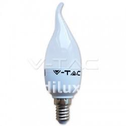 V-Tac VT-1855TP Lampadina LED Fiamma E14 6W - SKU 4351 | 4352 | 4353