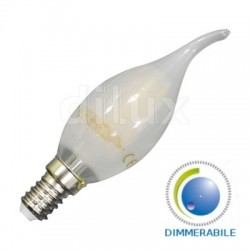 V-Tac VT-2056D Lampadina LED Filamento Frost Fiamma E14 4W Dimmerabile - SKU 7177
