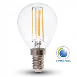 V-Tac VT-1996D Lampadina LED Filamento Mini-Bulbo E14 4W Dimmerabile - SKU 4394