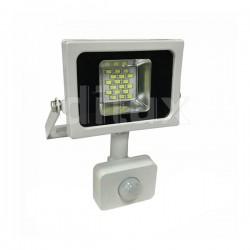 V-Tac VT-4810 PIR Faro LED Ultra Slim 10W Bianco con Sensore di Movimento e Crepuscolare - SKU 5746 | 5747 | 5748