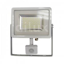 V-Tac VT-4820 PIR Faro LED Ultra Slim 20W Bianco con Sensore di Movimento e Crepuscolare - SKU 5756 | 5749 | 5750