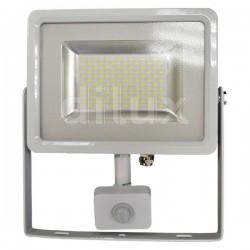 V-Tac VT-4850 PIR Faro LED Ultra Slim 50W Bianco con Sensore di Movimento e Crepuscolare  - SKU 5758 | 5753 | 5754