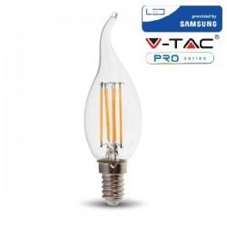 V-Tac PRO VT-264 Lampadina LED E14 Filamento Fiamma 4W CHIP SAMSUNG - SKU 275
