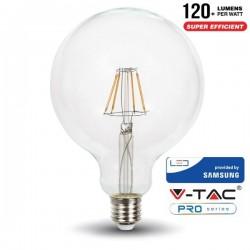 V-Tac PRO VT-287 Lampadina LED E27 Filamento Globo G125 6W CHIP SAMSUNG - SKU 292