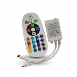 V-Tac VT-2472 Controllo ad Infrarossi per Strisce LED RGB con Telecomando 24 Tasti - SKU 3625