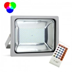 V-Tac VT-4752 Faro LED Multi-Color RGB 50W con Telecomando Radiofrequenza - SKU 5691